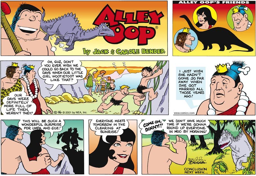 Alley Oop for Dec 16, 2001 Comic Strip