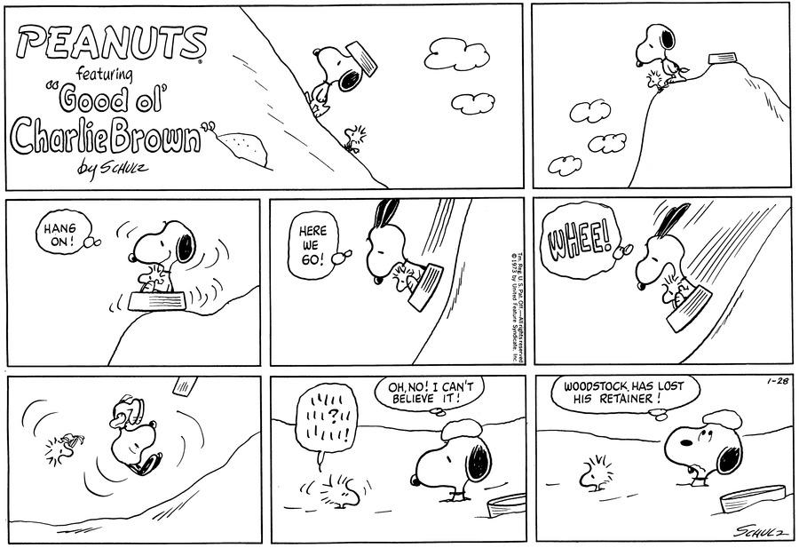 Peanuts Comic Strip for January 28, 1973