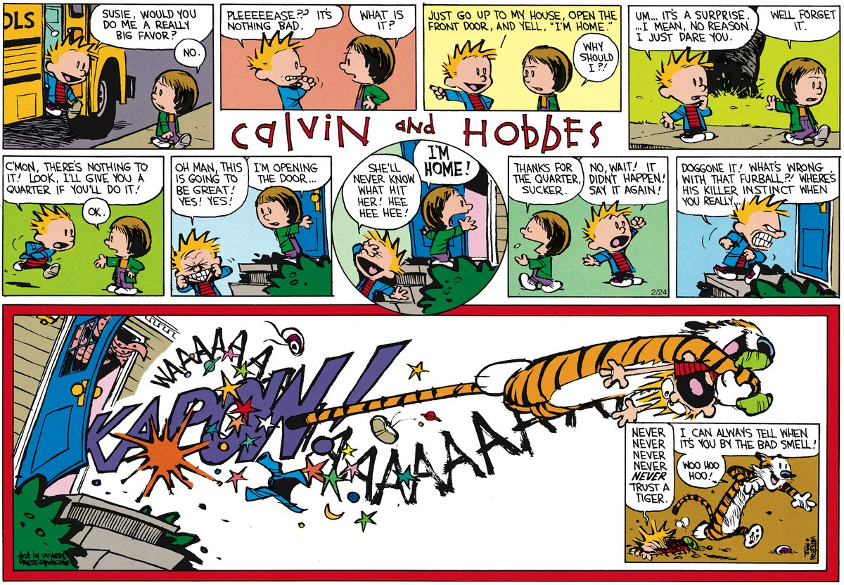 Calvin and Hobbes for Apr 15, 2012 Comic Strip
