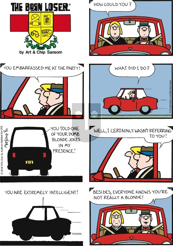 The Born Loser on Sunday May 13, 2018 Comic Strip