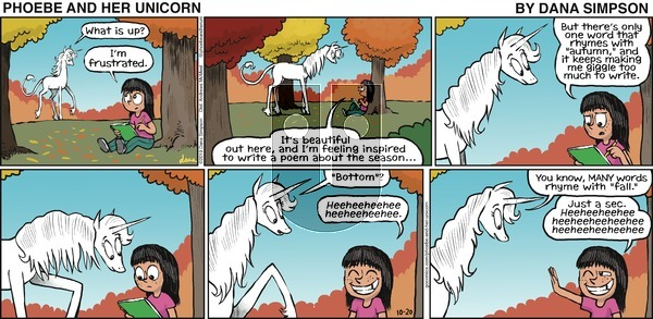 Phoebe and Her Unicorn on Sunday October 20, 2019 Comic Strip