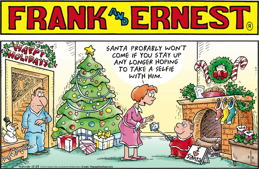 Frank and Ernest Comic Strip for December 23, 2018