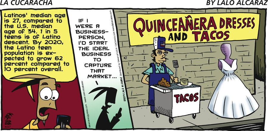 La Cucaracha Comic Strip for April 27, 2014