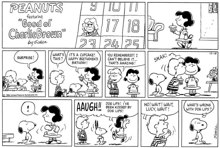 Peanuts Comic Strip for December 16, 1984