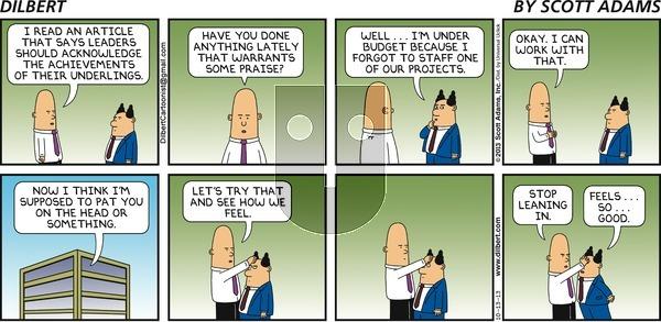Dilbert on Sunday October 13, 2013 Comic Strip