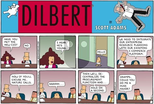 Dilbert on Sunday July 23, 2000 Comic Strip