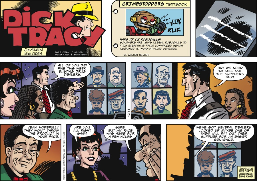 Dick Tracy Comic Strip for December 13, 2020