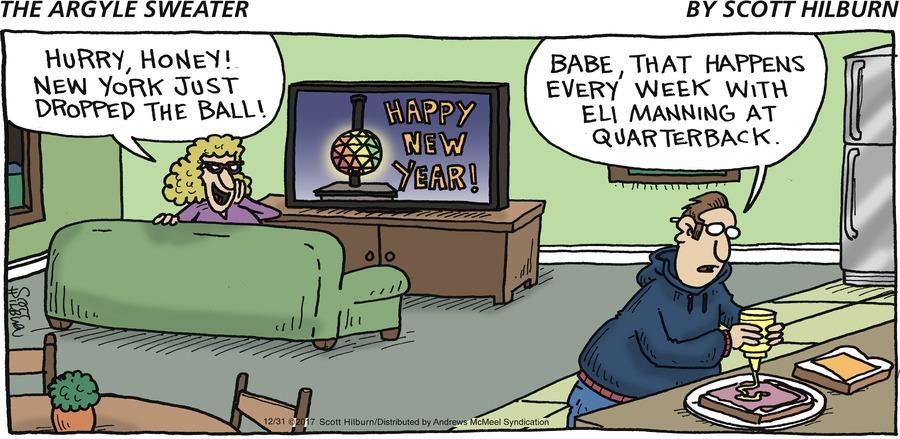 The Argyle Sweater for Dec 31, 2017 Comic Strip