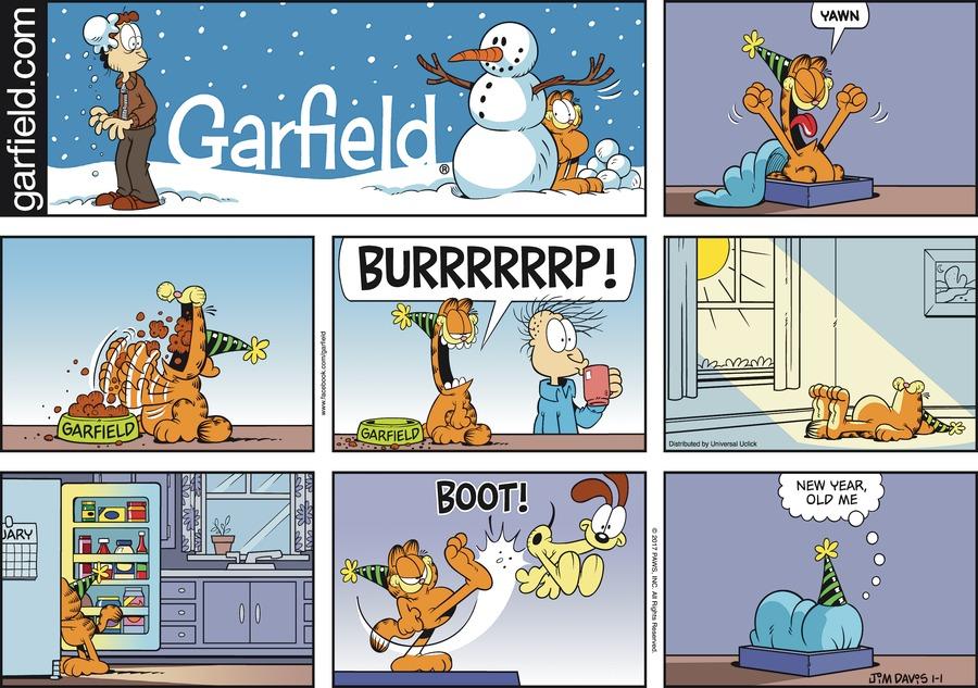 Garfield Comic Strip for January 01, 2017