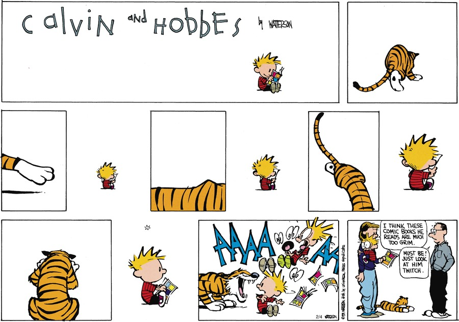 Calvin and Hobbes Comic Strip for March 24, 1991
