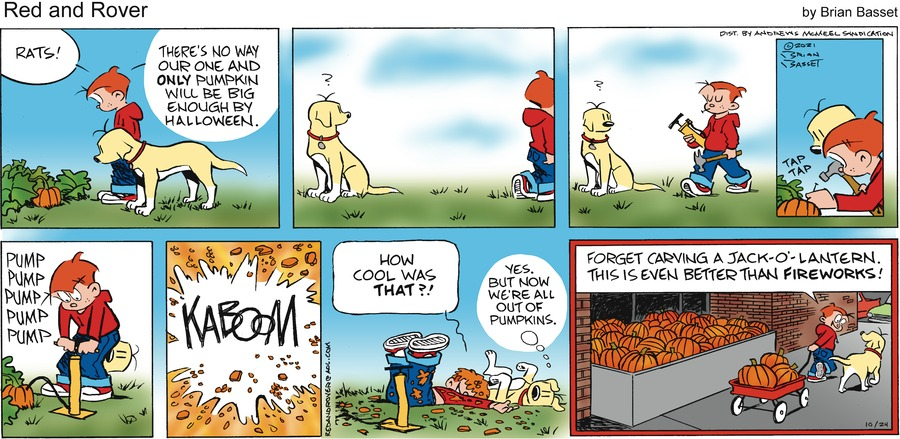 Red and Rover by Brian Basset on Sun, 24 Oct 2021