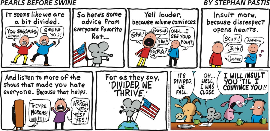 Pearls Before Swine Comic Strip for August 26, 2018