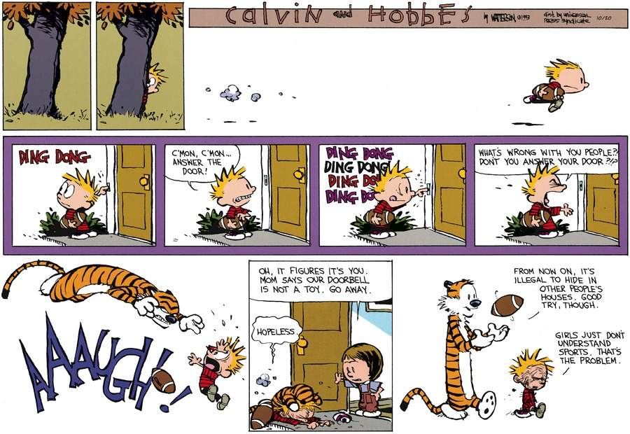 Calvin and Hobbes for Oct 20, 2013 Comic Strip