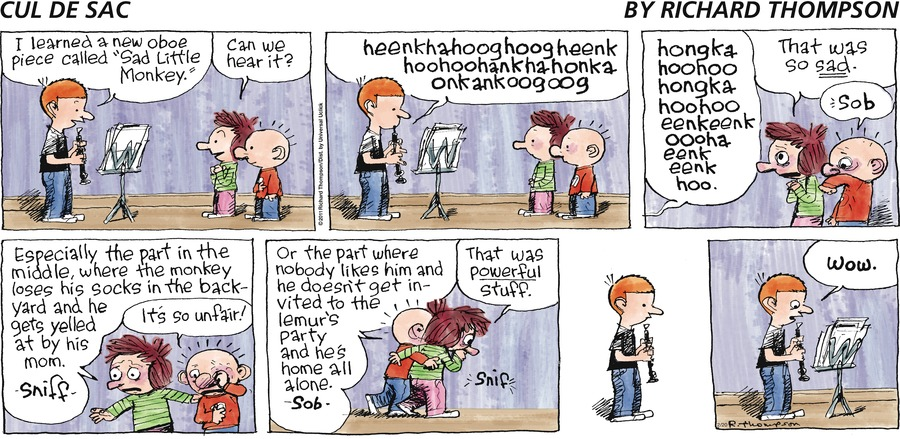 Cul de Sac Comic Strip for February 20, 2011