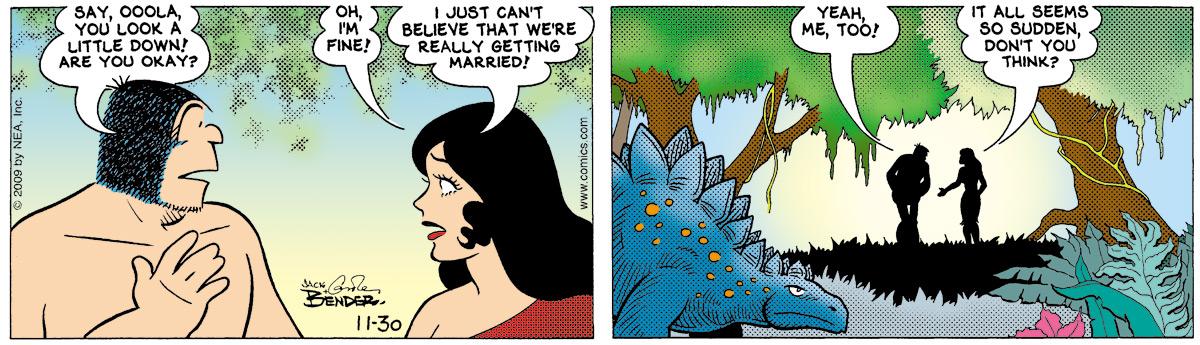 Alley Oop for Nov 30, 2009 Comic Strip