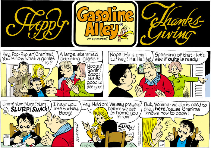 Gasoline Alley for Nov 18, 2012 Comic Strip