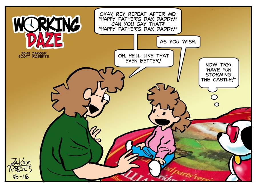 Working Daze Comic Strip for June 16, 2019