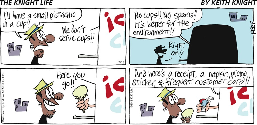 The Knight Life Comic Strip for July 15, 2018