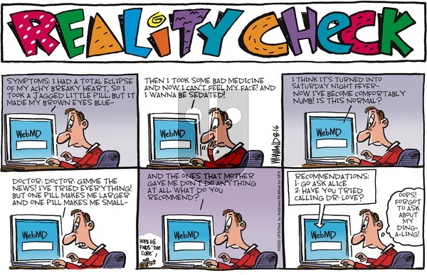 Reality Check on Sunday August 16, 2020 Comic Strip
