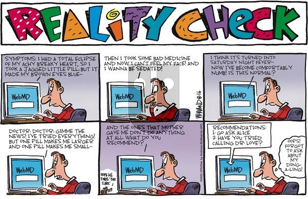 Reality Check - Sunday August 16, 2020 Comic Strip