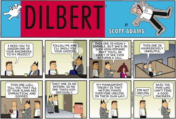 Dilbert - Sunday February 7, 2010 Comic Strip
