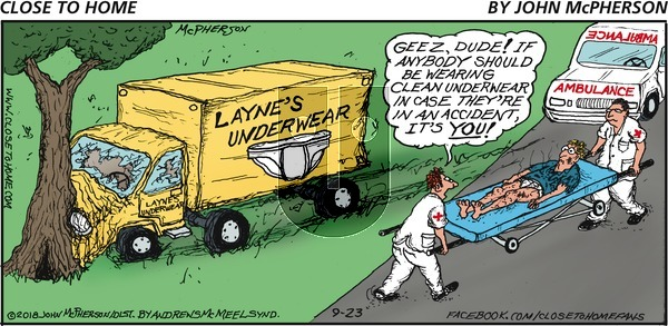 Close to Home on Sunday September 23, 2018 Comic Strip