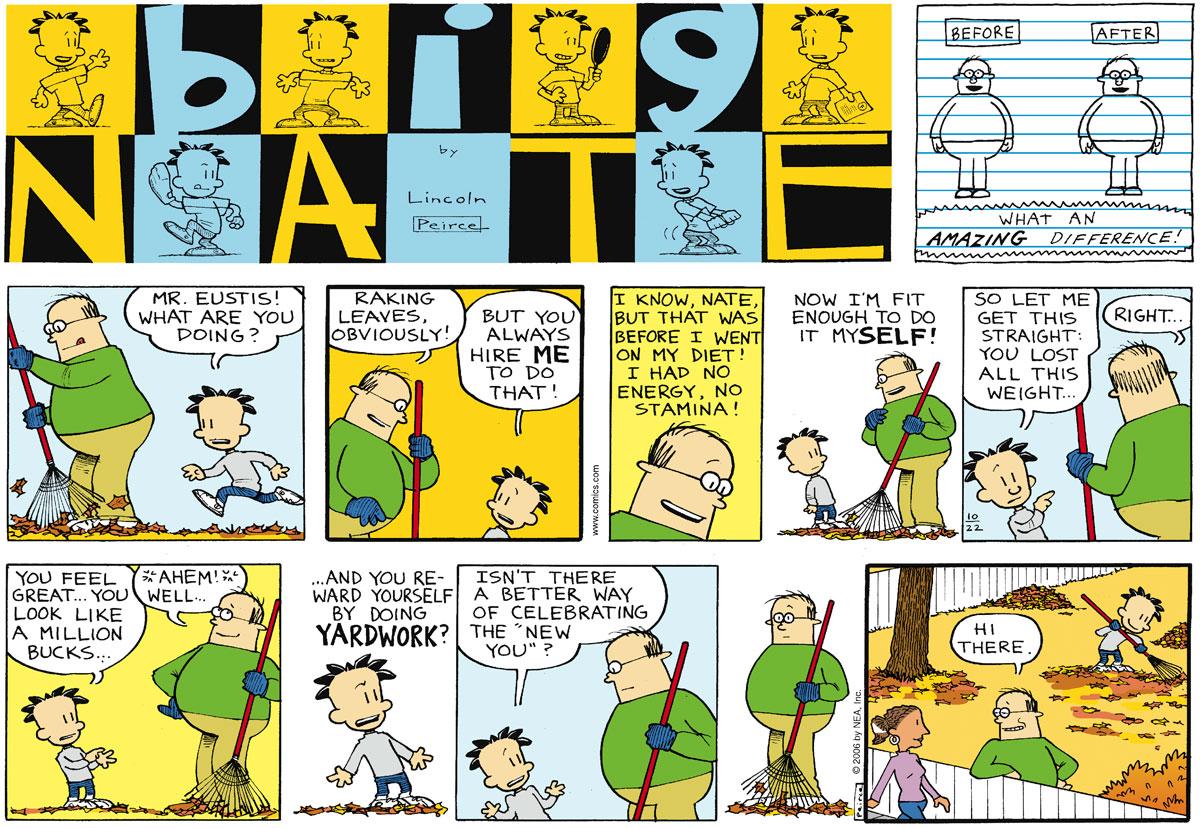 Big Nate Comic Strip for October 22, 2006