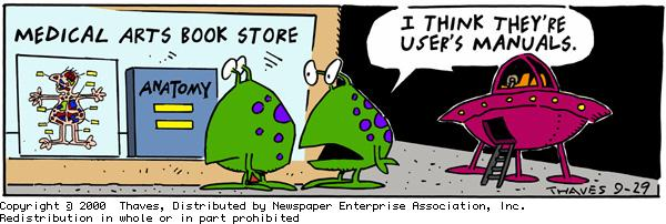 Frank and Ernest for Sep 29, 2000 Comic Strip