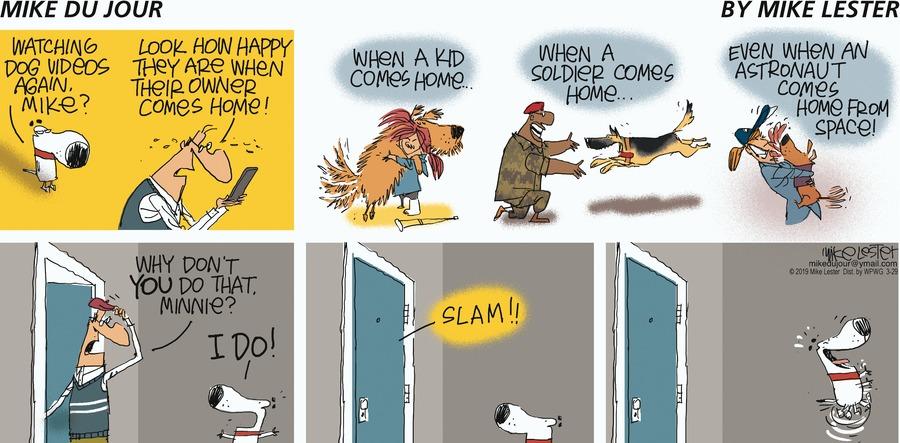 Mike du Jour Comic Strip for March 29, 2020