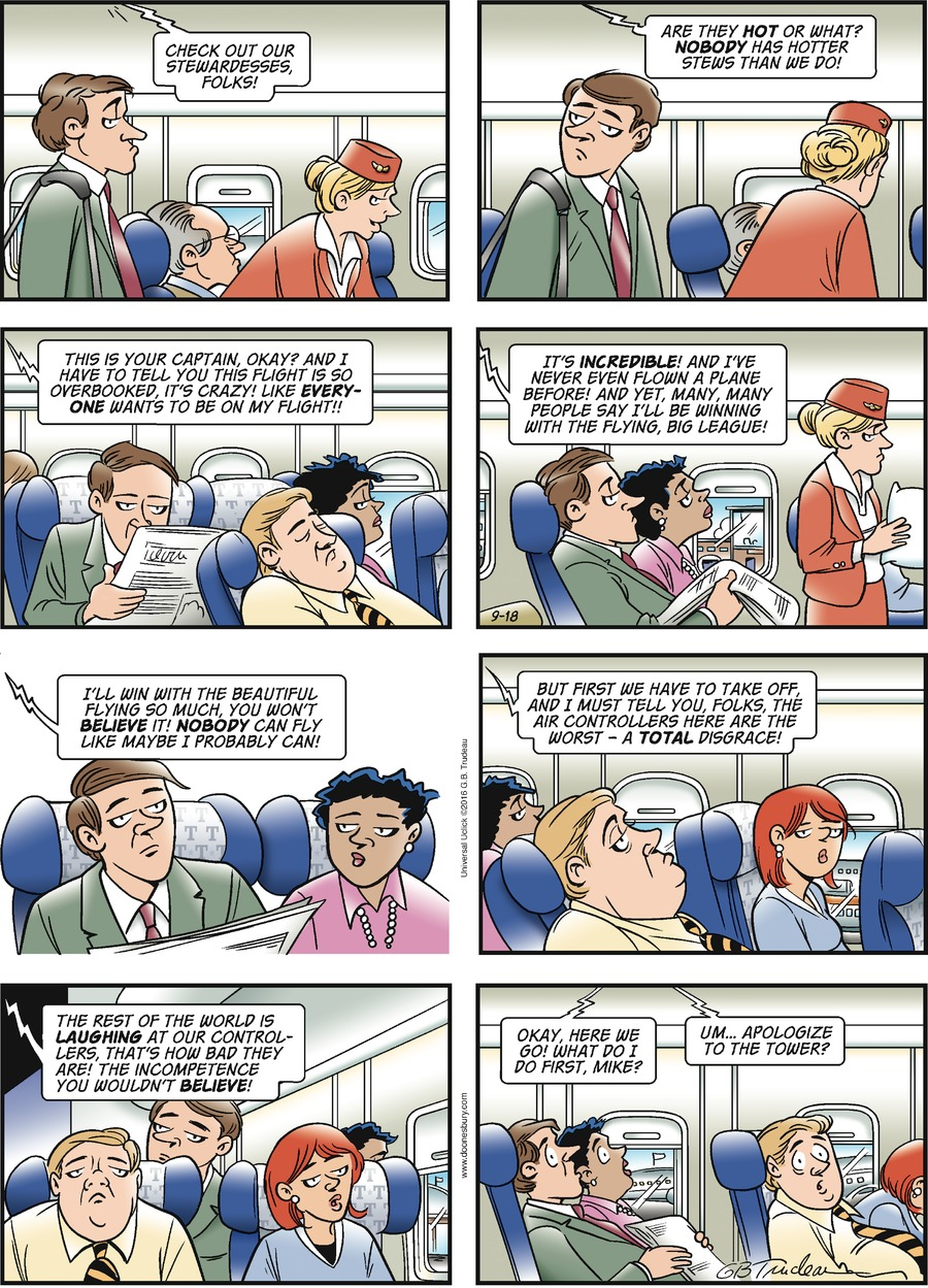 Doonesbury for Sep 18, 2016 Comic Strip