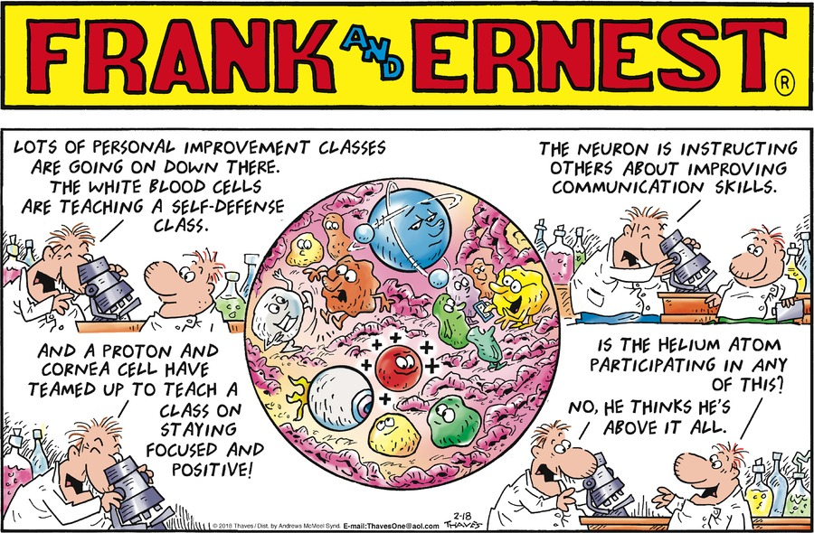 Frank and Ernest Comic Strip for February 18, 2018