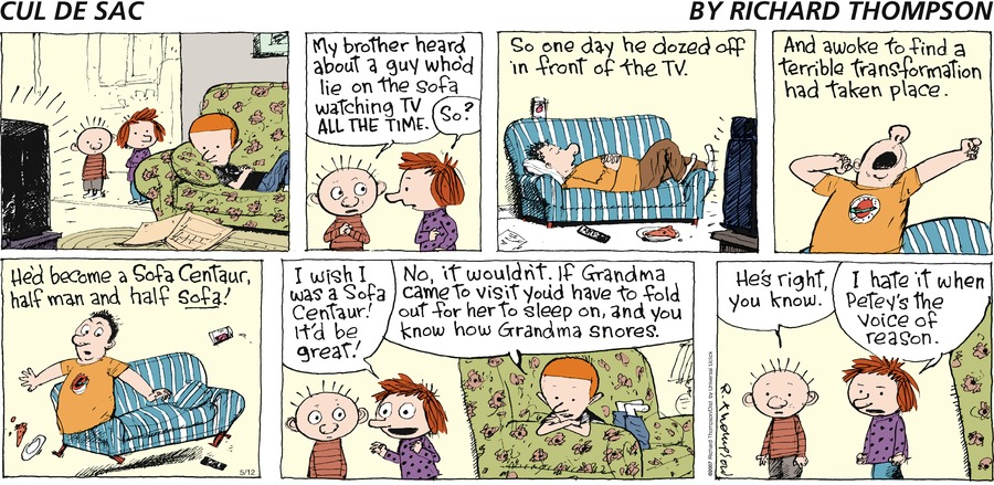 Cul de Sac for May 12, 2013 Comic Strip