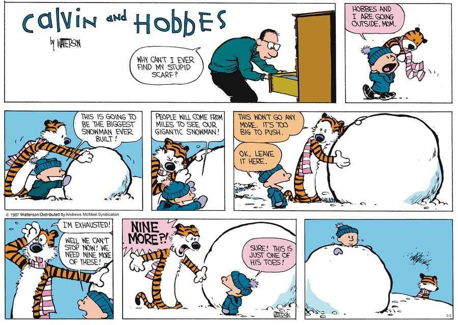 Calvin and Hobbes Comic Strip for February 05, 2017