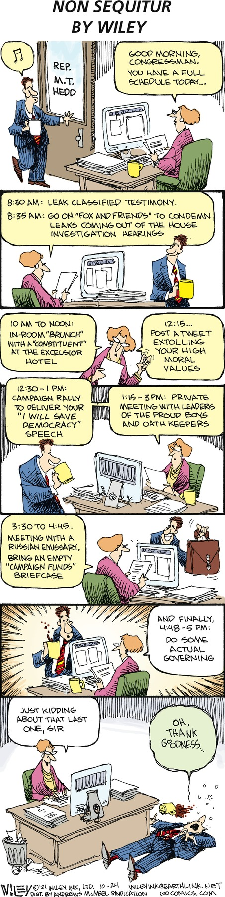 Non Sequitur by Wiley Miller on Sun, 24 Oct 2021