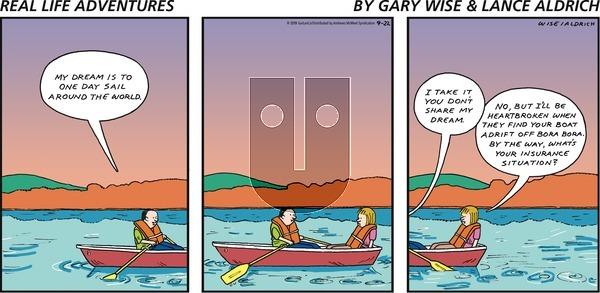 Real Life Adventures - Sunday September 22, 2019 Comic Strip