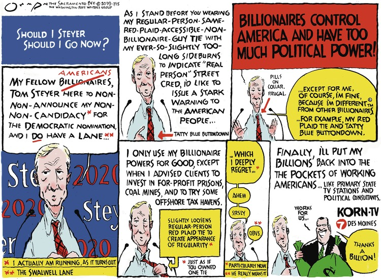 Jack Ohman Comic Strip for July 14, 2019