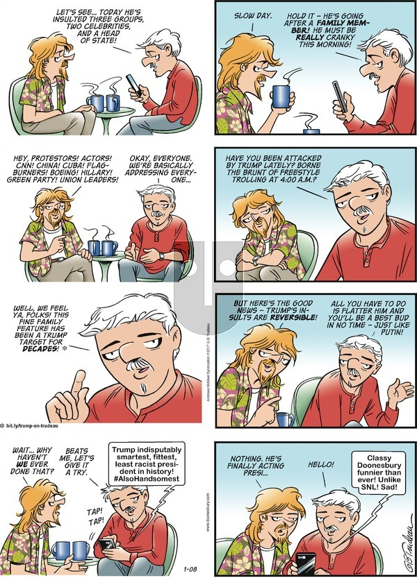 Doonesbury on Sunday January 8, 2017 Comic Strip