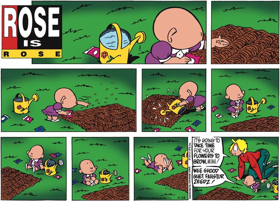 Rose is Rose Comic Strip for April 22, 2012