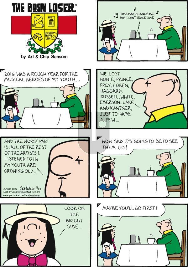 The Born Loser on Sunday January 22, 2017 Comic Strip