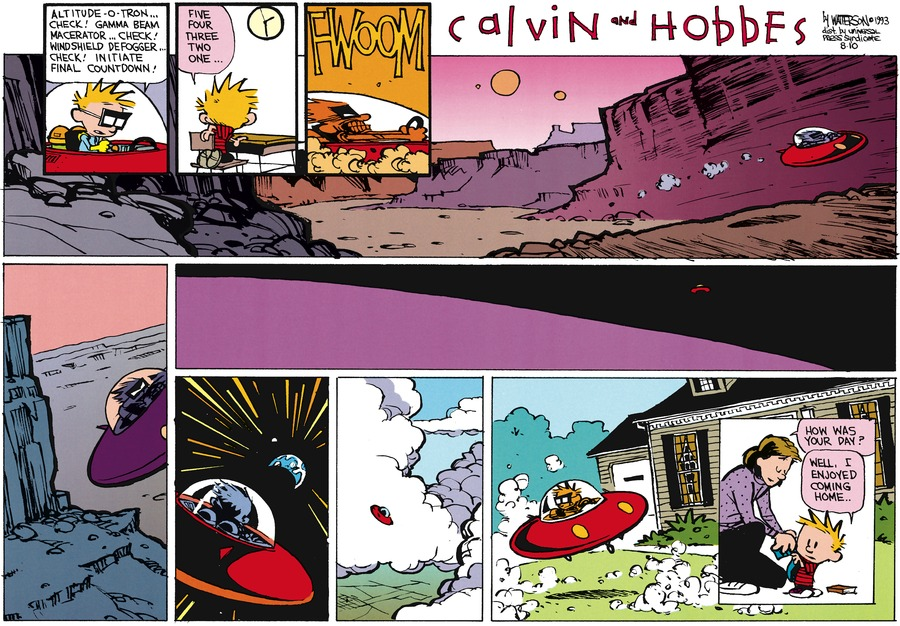 Calvin and Hobbes Comic Strip for September 26, 1993