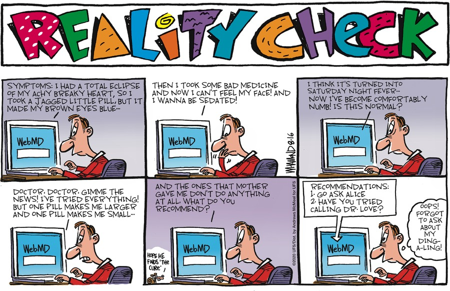 Reality Check Comic Strip for August 16, 2020