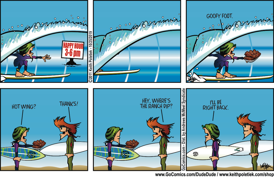 Dude and Dude Comic Strip for October 25, 2019