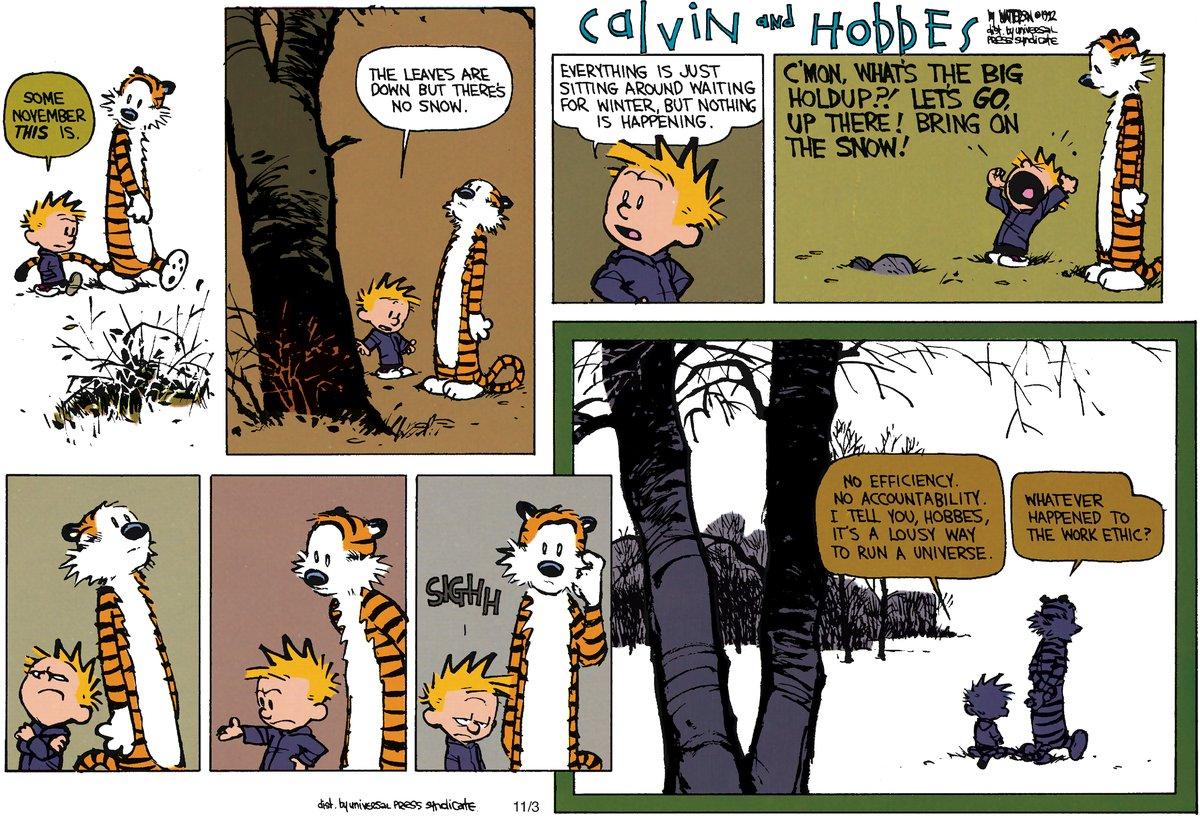 Calvin and Hobbes Comic Strip for November 18, 2012