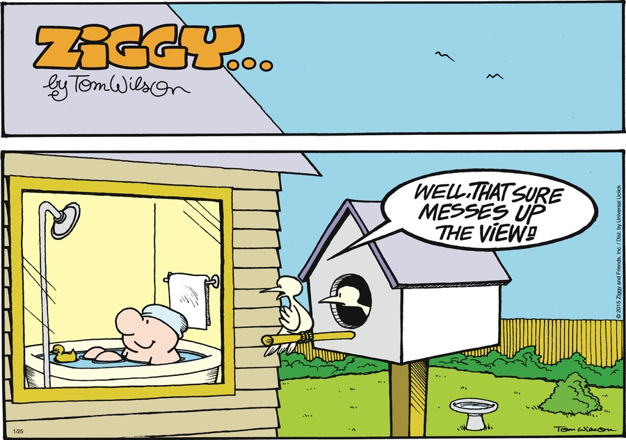 Ziggy Comic Strip for January 25, 2015