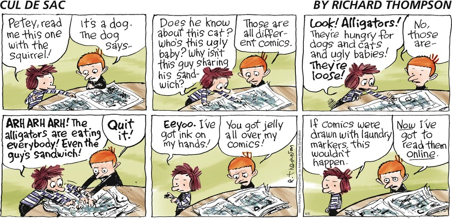 Cul de Sac Comic Strip for April 05, 2020