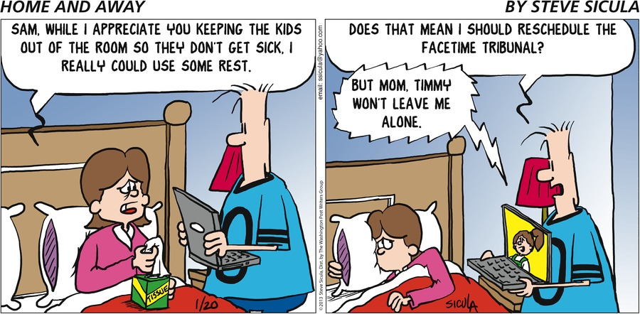 Home and Away for Jan 20, 2013 Comic Strip