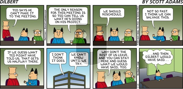 Dilbert on Sunday March 1, 2020 Comic Strip