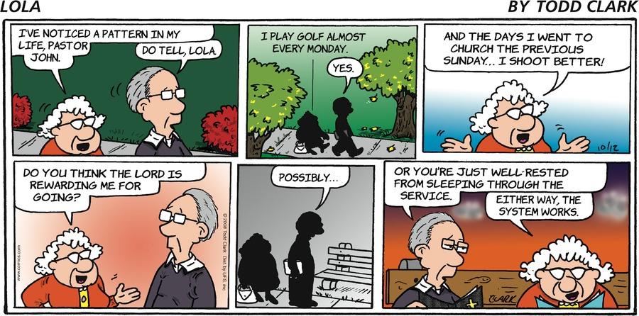 Lola for Oct 12, 2008 Comic Strip