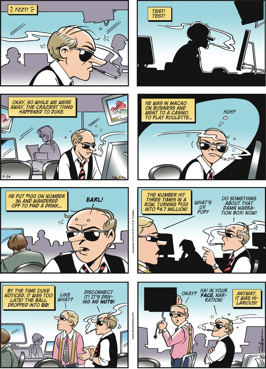 Doonesbury Comic Strip for November 24, 2013