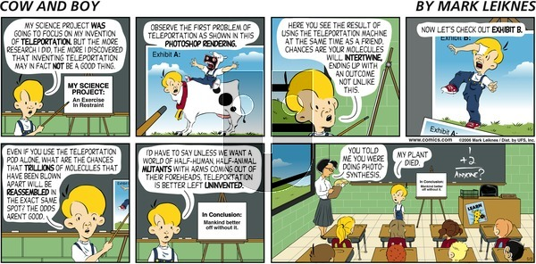Cow and Boy Classics on Sunday May 21, 2006 Comic Strip